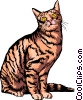 Vector Clip Art image  of a Domestic cat