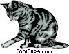 Domestic cat Vector Clip Art picture