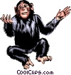 Vector Clipart graphic  of a Chimpanzee