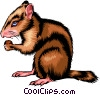 Vector Clip Art graphic  of a Chipmunk