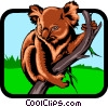 Vector Clip Art picture  of a Koala Bears