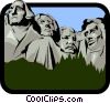 Vector Clipart graphic  of a Mount Rushmore