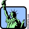 Vector Clipart illustration  of a Statue of Liberty