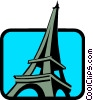 Vector Clip Art image  of a Eiffel Towers