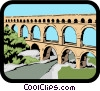 Viaduct Vector Clip Art graphic