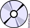 Vector Clipart graphic  of a CD-ROM