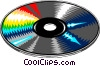 Vector Clip Art graphic  of a CD-ROM disk