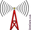Vector Clip Art image  of a Communications tower