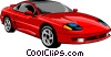 Sports car Vector Clipart graphic