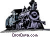 Vector Clipart graphic  of a Old steam train