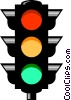 Vector Clipart image  of a Traffic lights