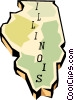 Vector Clip Art graphic  of a Illinois state map