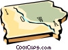 Vector Clipart picture  of a Iowa state map