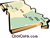 Missouri state map Vector Clipart image