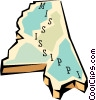 Vector Clipart picture  of a Mississippi state map