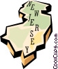 New Jersey state map Vector Clipart picture