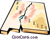 Vector Clip Art graphic  of a New Mexico state map