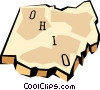 Vector Clip Art image  of a Ohio state map