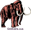 Vector Clip Art image  of a Mammoth