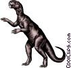 Vector Clip Art image  of a Dinosaur