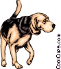 Vector Clipart illustration  of a Beagle