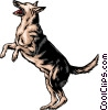 Vector Clip Art graphic  of a German Shepherd