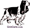 Vector Clipart graphic  of a Cocker spaniel