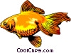 Vector Clipart illustration  of a Goldfish