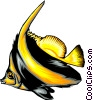 Vector Clip Art picture  of a Tropical fish