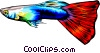 Vector Clipart graphic  of a Tropical fish