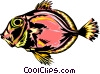 Vector Clip Art image  of a Tropical fish