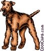 Vector Clip Art graphic  of a Terrier dog