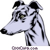 Vector Clip Art image  of a Greyhound