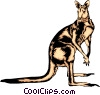 Vector Clipart graphic  of a Kangaroo