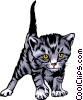 Vector Clip Art graphic  of a Kitten
