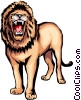 Vector Clip Art picture  of a Lion