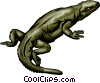 Lizard Vector Clip Art graphic