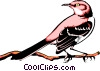 Vector Clipart graphic  of a Mocking bird