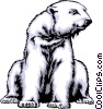 Vector Clipart graphic  of a Polar bear