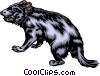 Vector Clipart image  of a Tasmanian wolf