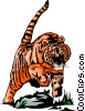 Vector Clipart graphic  of a Tiger