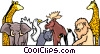 Vector Clip Art picture  of an Animal background