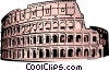Vector Clip Art graphic  of a Coliseum in Rome