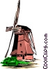 Dutch windmill Vector Clipart illustration