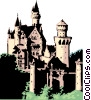 Vector Clipart picture  of a German castle