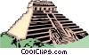 Mayan temple Vector Clipart illustration