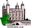 Vector Clip Art picture  of a Tower of London