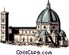 Vector Clipart graphic  of a Florentine church