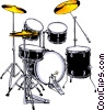 Vector Clip Art graphic  of a Drum set