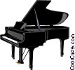 Vector Clipart graphic  of a Grand piano
